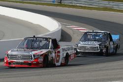 Ryan Truex, Hattori Racing Enterprises Toyota and Parker Kligerman, Henderson Motorsports Toyota