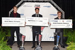USF2000 champion Oliver Askew, Indy Lights champion Kyle Kaiser, Pro Mazda champion Victor Franzoni