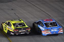 Paul Menard, Richard Childress Racing Chevrolet, Aric Almirola, Richard Petty Motorsports Ford