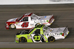 Kaz Grala, GMS Racing Chevrolet and Justin Fontaine, ProMatic Automation Toyota Tundra
