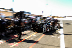 Josef Newgarden, Team Penske Chevrolet leaving pits