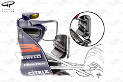 Red Bull RB13, bargeboard a confronto, GP di Singapore