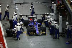 Pascal Wehrlein, Sauber C36-Ferrari pits