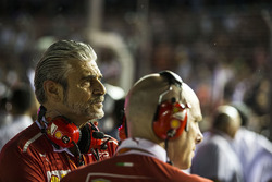 Maurizio Arrivabene, directeur de Ferrari et Jock Clear, ingénieur en chef