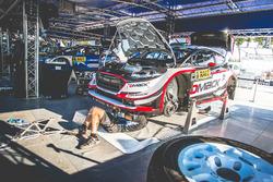 El coche de Elfyn Evans, Daniel Barritt, Ford Fiesta WRC, M-Sport