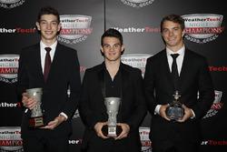 Tequila Patron North American Endurance Cup winnaars Kyle Masson, Pato O'Ward en James French