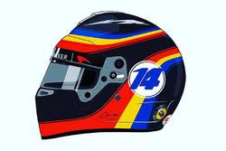 Casco de Alonso para USA