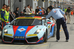 #9 Gulf Racing Middle East Lamborghini Gallardo LP600: Fabien Giroix, Frederic Fatien, Khaled Al Mudhaf, Stefan Johansson
