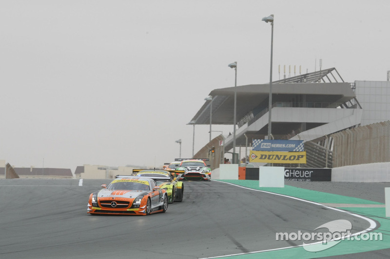 #1 Team Abu Dhabi by Black Falcon Mercedes SLS AMG GT3: Khaled Al Qubaisi, Bernd Schneider, Jeroen Bleekemolen, Sean Edwards