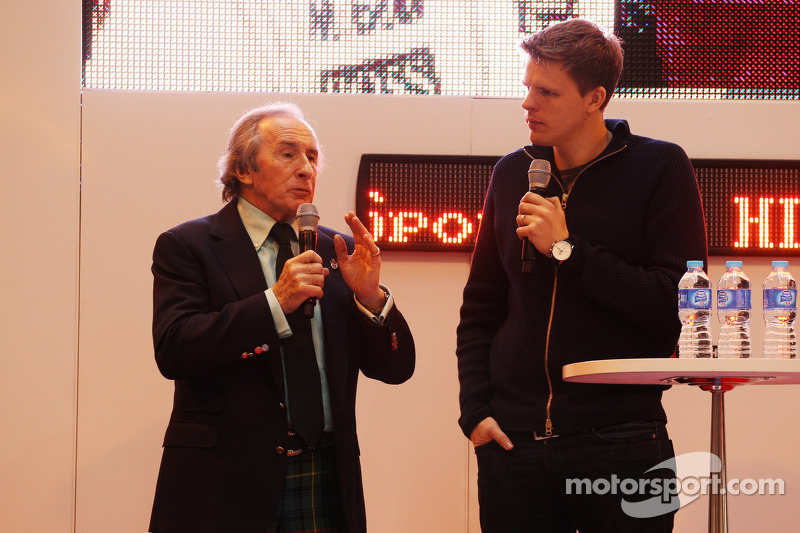 Jackie Stewart and Jake Humphrey, on the F1 Racing Stand