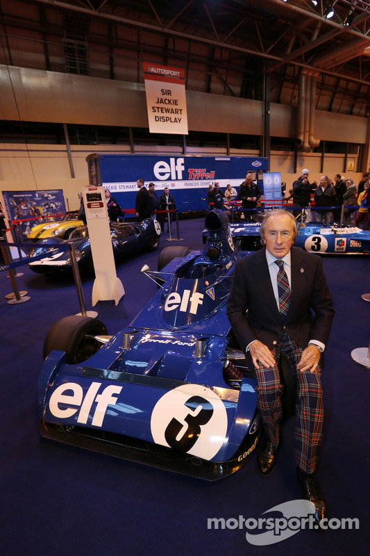 Jackie Stewart, at his Feature at Autosport International