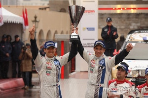 Podium: second place Sébastien Ogier and Julien Ingrassia, Volkswagen Motorsport