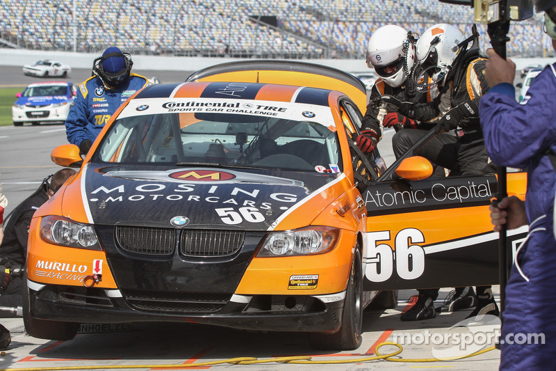 Driver change for #56 RACE EPIC/ Murillo Racing BMW 328i: Jesse Combs, Jeff Mosing