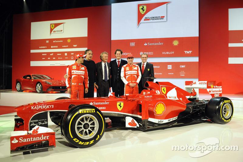 Фернандо Алонсо и Фелипе Масса. Презентация Scuderia Ferrari F138, Презентация.