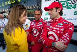 Juan Pablo Montoya and Dario Franchitti