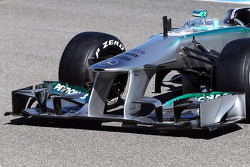 The new Mercedes AMG F1 W04 front wing