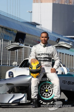 Lewis Hamilton, Mercedes AMG F1 with the new Mercedes AMG F1 W04