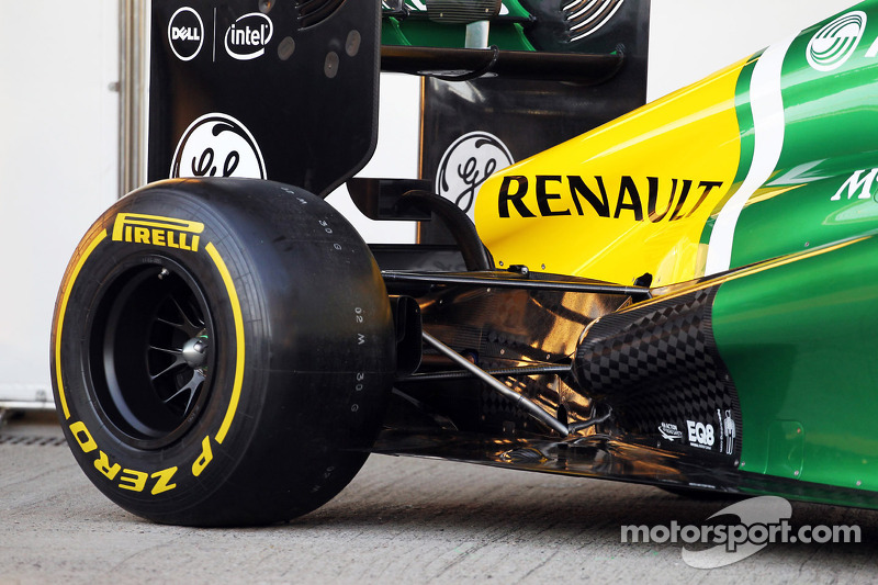 Caterham CT03 achterwielophanging detail