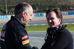 Franz Tost, Scuderia Toro Rosso Team Principal with Christian Horner, Red Bull Racing Team Principal
