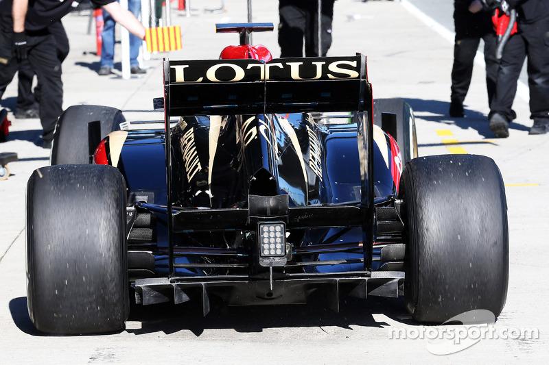 Romain Grosjean, Lotus F1 E21 rear diffuser