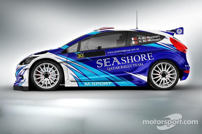 The Seashore Qatar Rally Team Ford Fiesta RRC to be driven by Abdulaziz Al-Kuwari in WRC-2