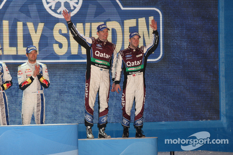 Podium: third place Mads Ostberg and Jonas Andersson