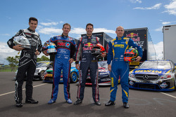 Rick Kelly, Nissan; Will Davison, Ford; Jamie Whincup, Holden; Lee Holdsworth, Mercedes