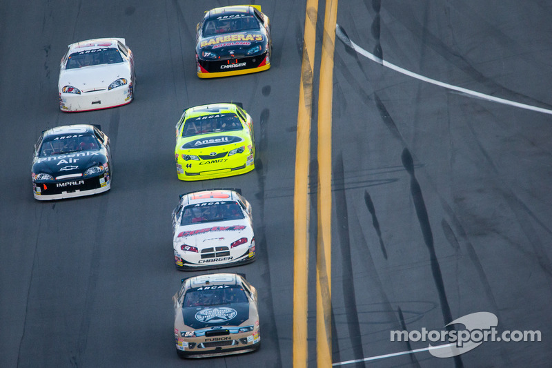 Sean Corr leads a group of cars