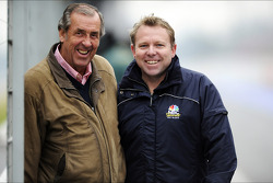 David Hobbs, NBC Sports Commentator withi Leigh Diffey, NBC Sports Commentator