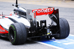 McLaren MP4-28 rear wing and rear diffuser