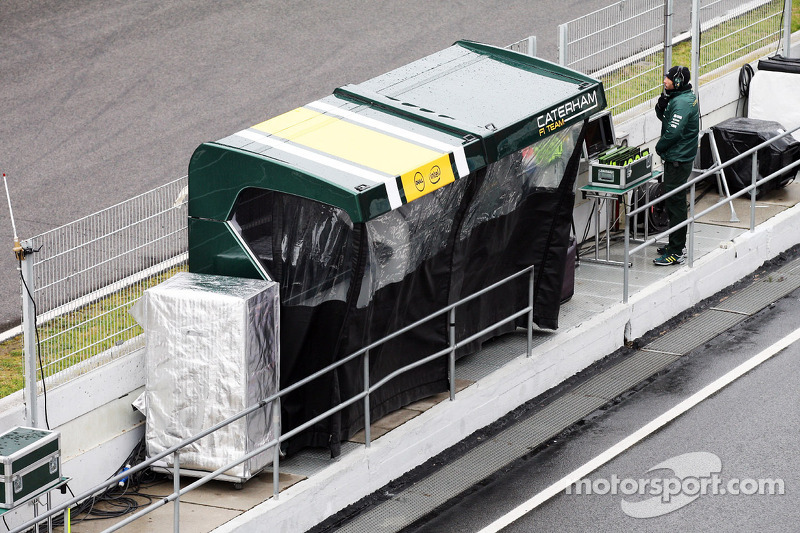 Caterham F1 Team pitbox