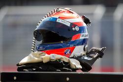 The helmet of Ian James