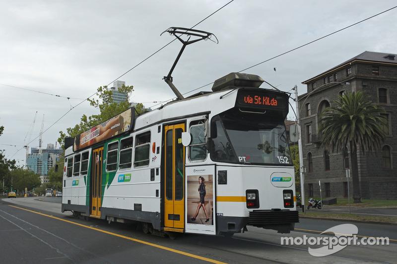 Een tram in Melbourne