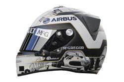 The helmet of Giedo van der Garde, Caterham F1 Team