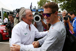 Sebastian Vettel, Red Bull Racing with Jackie Stewart