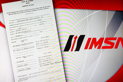 Unified Sports Car Series press conference: the new IMSA logo and the original IMSA registration paper