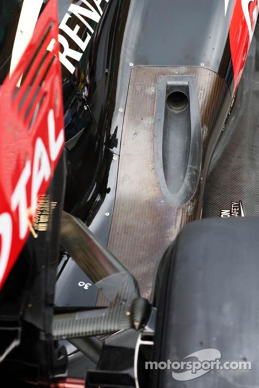 Lotus F1 E21 exaustor e suspensão traseira