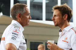 Martin Whitmarsh, McLaren Chief Executive Officer with Jenson Button, McLaren