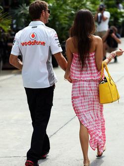 Jessica Michibata, with boyfriend Jenson Button, McLaren