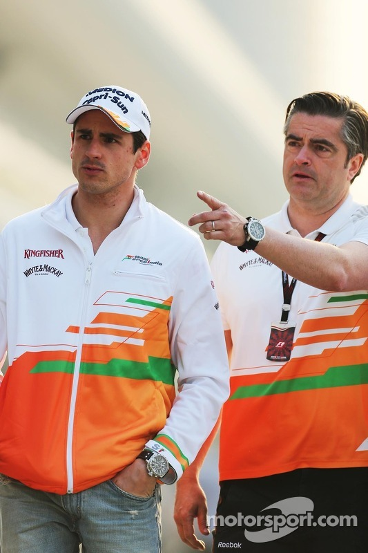 Adrian Sutil, Sahara Force India F1, com Paul di Resta