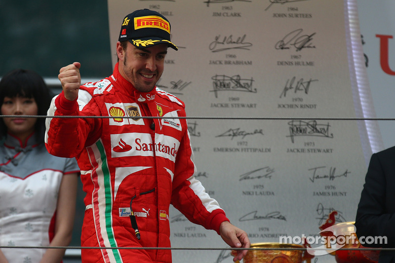 1e plaats Fernando Alonso, Ferrari
