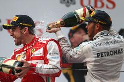 Fernando Alonso, Ferrari and Lewis Hamilton, Mercedes AMG F1