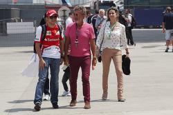 Felipe Massa, Ferrari with Eddie Jordan, BBC Television Pundit