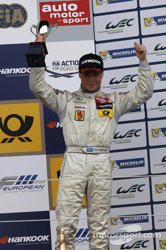 terceiro colocado Felix Rosenqvist