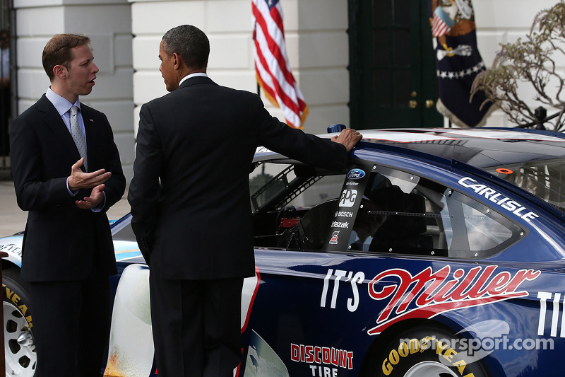 President Barack Obama with 2012 series champion Brad Keselowski