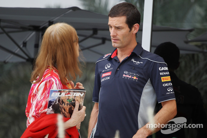 Mark Webber, Red Bull Racing with Helen Stewart