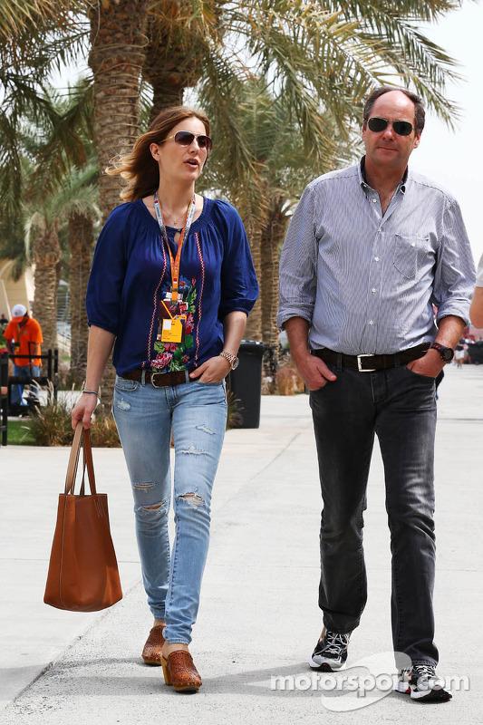 Gerhard Berger, com sua namorada Helene