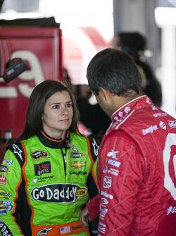 Danica Patrick and Juan Pablo Montoya