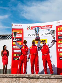 CS podium: winner Jon Becker, second place Brent Lawrence, third place Marc Muzzo