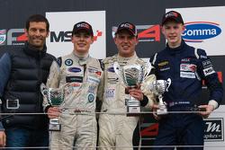 Podium From left: Mark Webber, Seb Morris, Jake Dalton and Matthew Graham